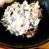 なまり節とニラ、水切り豆乳ヨーグルトで白和え風