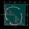 シェルピンスキー三角形の面積