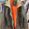 ALPHAINDUSTRIES アルファインダストリーズのMA-1ジャケットのクリーニングとシミ抜き復元加工
