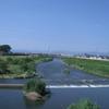 広瀬川の永久橋より河岸場跡を望む