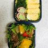豚肉・野菜炒めとブロ茎ベーコン弁当