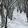 早春の蕨山は雪の中