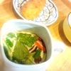 大和芋かき揚げ、茶碗蒸し、エリンギピリ辛、鶏フライ