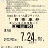 1日乗車券エンジョイエコカード(土日祝)