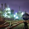 川崎工場夜景:千鳥町駅の貨物ヤードにて。