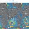 台風10号接近)Windy.comの現時点、12時間後、24時間後の予測地図を、このブログに直接貼り付けてみた。