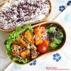 #607 豚肉と南瓜の醤油+塩麹炒め弁当