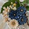 つまみ細工  桜のコサージュ  Blueflower