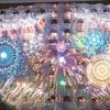 東京で楽しむ長岡花火 プリンスホテル壁面に映像を投影