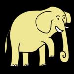 かわいい象 のイラスト