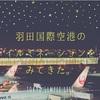 羽田国際空港のイルミネーションをみてきた。