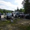 14日早朝、集団で税金申告した人への収支報告書の提出を求める不当な事後調査に抗議する集会が信夫山で