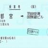 宇都宮からの東京モノレール連絡乗車券