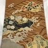 帯(袋帯) ベージュ・立波花紋・明綴れ(三越扱い)