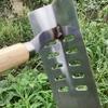 家庭菜園 雑草を除去して枝豆の種を植えた