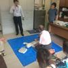 AEDの講習会をしました。