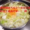 月曜断食ダイエット【13日目】とり野菜鍋はヘルシーで美味しいよ!