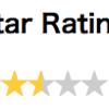 CSSで星のレーティング評価を0.0〜5.0で表示するメモ