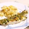 クミン風味のポテトとカンパチのパン粉焼き