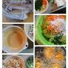 イカの酢味噌マヨ和えとホッケのすり身のガンモ風と体温。