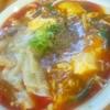 中華そばde小松 スーラー仕立ての麻婆湯麺 TP肉ワンタン