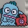 【アイロンビーズ】サンリオのキャラクター、「ハンギョドン」と「さゆりちゃん」