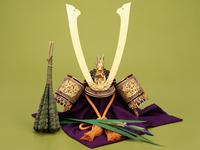 5月5日は端午の節句。兜と鯉のぼりを飾っています!
