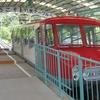 八栗ケーブルカーは新幹線0系をモデルにしたレトロな車両