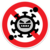 「コロナウイルス防止」のイラストアイコン素材2(通行止め標識)