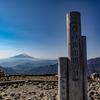 塔ノ岳から望む富士山と蛭ヶ岳