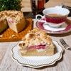 苺のクランブルケーキ