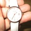 d0020 Comtex 腕時計 レディースホワイト レザーベルト カレンダー アナログクオーツ 時計 ピンクゴールド