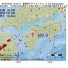 2016年10月20日 10時45分 愛媛県中予でM2.9の地震