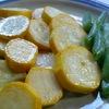 チャックの野菜(3)イエロースカッシュを味噌ディップで