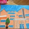 6年生:図工 思い出の校舎完成