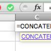 Excel 文字をつなげる 結合 (CONCATENATE)
