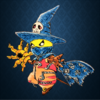 HALLOWEEN x PIKACHU of Wizardmon costume.