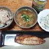 焼き鯖とポテトサラダ