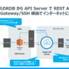 オンプレミスの RDB から REST API を自動生成・API Server Cloud Gateway 経由でインターネットに公開