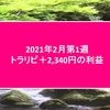 トラリピ2020年2月第1週2,340円の利益