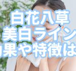 リニューアル!【草花木果】白花八美白ライントライアルの特徴や効果
