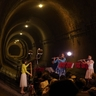 湊川隧道(ずいどう)でフルートのコンサート トンネルの中は涼しいし音響効果バツグン