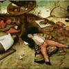 ブリューゲル「怠け者の天国」=巨大蛇の食人図
