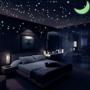 夜が楽しい❗子供の寝かしつけにも⭕お部屋に『蓄光ウォールステッカー🌙⭐』を貼ってみた