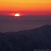 能登沖に沈む夕日