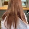 ロングヘアからの変身【薄めのピンクベージュ】カラー▶︎色もち◎▶︎今週の予約状況