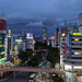 ビル明かりが美しい、仙台都心部の夜景写真(2020年9月)