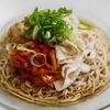 納豆豚キムチ冷やし蕎麦のレシピ