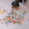 「上手におもちゃを広げたね。上手におもちゃを集められるかな」。アドラー流片付けの言葉を子どもに実践してみたら。