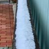 雪のスロープ?
